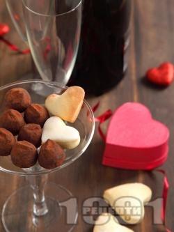 Лесни домашни бонбони / топчета / трюфели от бисквити, масло и какао - снимка на рецептата